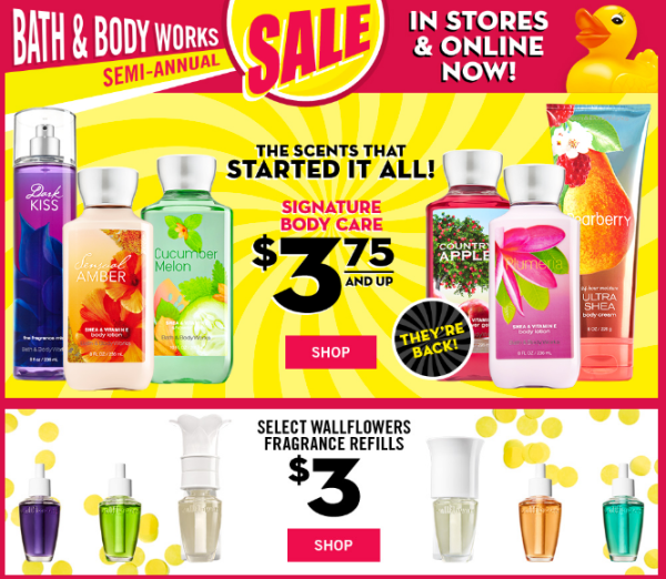 Bath & Body Works Semi-Annual Sale: Discounts on Candles ...