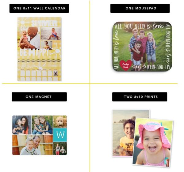 shutterfly freebies today only mousepad calendar magnet or
