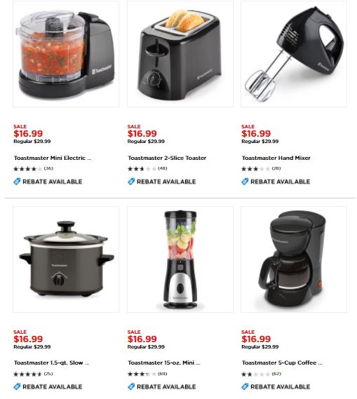 Toastmaster Small Kitchen Appliances $4.99 After Rebate - My Dallas ...