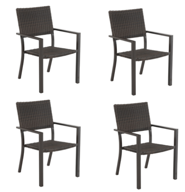 b8f73902747 Target~ Set of 4 Belvedere Wicker Patio Dining Chairs For  180 Shipped (reg   360)