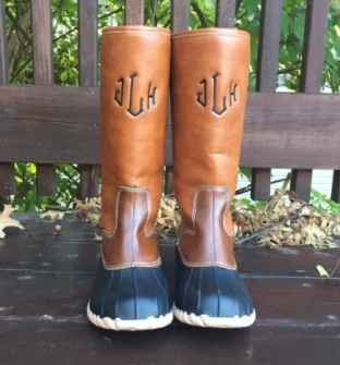 a5e050b8ce3d Jane~ Tall Monogrammed Duck Boots Just  49.99 - My DFW Mommy