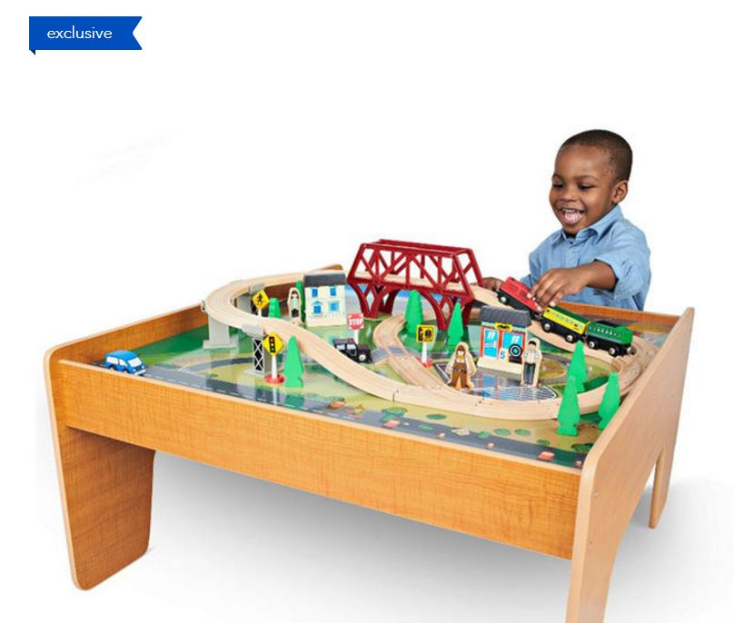 Your little train lover will LOVE this Imaginarium Train Set with Table u2013 55-Piece on sale for $39.99 shipped (Retail $79.99)!  sc 1 st  My Dallas Mommy : imaginarium table train set - Pezcame.Com