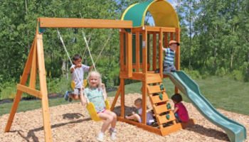Walmart Big Backyard Windale Wooden Swing Set Just 399 Shipped