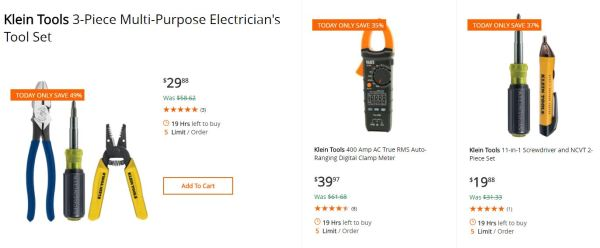 home depot - 40% off select klein electrical hand tools - my dallas ...