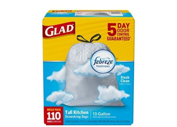 Image Result For Glad Tall Kitchen Drawstring Trash Bags Gallon Count