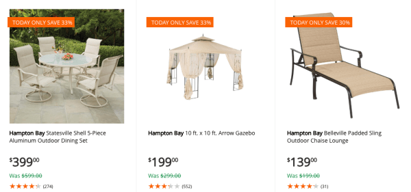Home Depot~ Up to 40% Off Select Patio Furniture Today Only ... on home depot aluminum patio furniture, home depot wrought iron patio set, clearance lowe patio outdoor furniture, home depot patio umbrella clearance, home depot patio cushions, home depot patio furniture swing, home depot decks and patios, home depot patio furniture sets, hampton bay white wicker furniture, at home depot patio furniture, outdoor patio bar sets furniture, home depot patio sets sale, home depot patio furniture clearance closeout, home depot adirondack patio chairs, home depot white patio furniture, home depot patio tables, home depot thomasville patio furniture, home depot 5 piece outdoor dining set, hampton bay outdoor furniture, home depot patio swings with canopy,