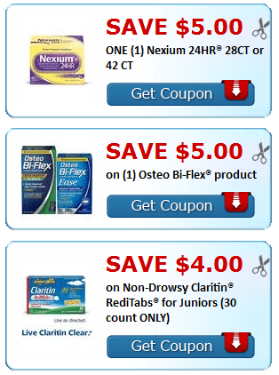image regarding Claritin Printable Coupons identified as Clean Printable Discount codes~ Nexium, Claritin, Coppertone + Far more
