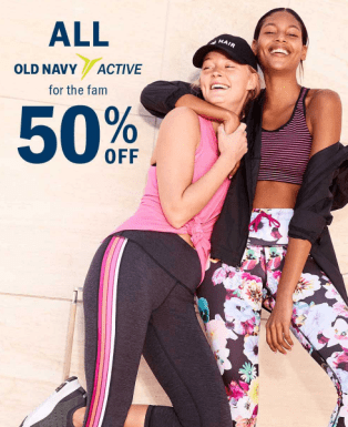 57f42d7b44 Old Navy~ 50% Off All Performance Activewear - My DFW Mommy