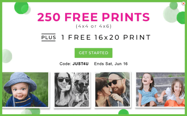 Free 16 20 Print 250 4 6 Prints At Shutterfly Today Only My