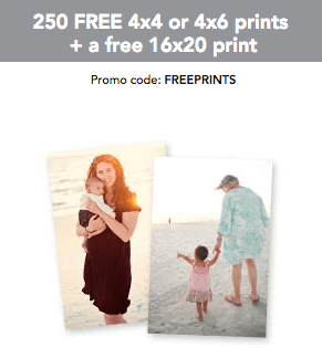 free 16 20 print 250 free 4 6 prints from shutterfly just pay