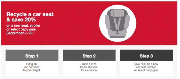 Now Through September 22nd Visit Target Where They Are Hosting Their Popular Car Seat Trade In Event Just Bring Any Used To Your Local