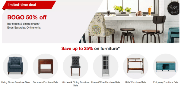 Target Furniture Sale Up To 25 Off Bogo 50 Off Stools Dining