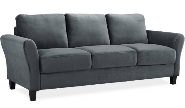 Gray Microfiber Sofa $199 Shipped - My DFW Mommy