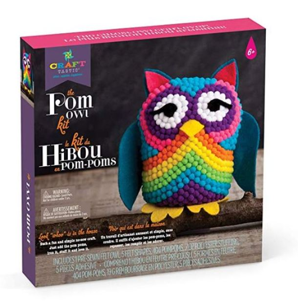 bac191147 Craft-tastic – Pom Owl – Craft Kit $13.59 Shipped + Up To 70% Off Craft Kits  For Kids
