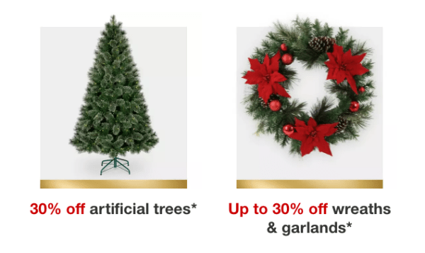 30 Off Target Artificial Christmas Trees Free Shipping