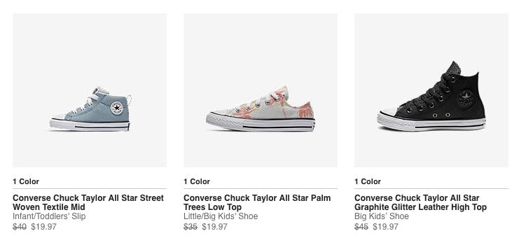 Select Converse Shoes + FREE Shipping