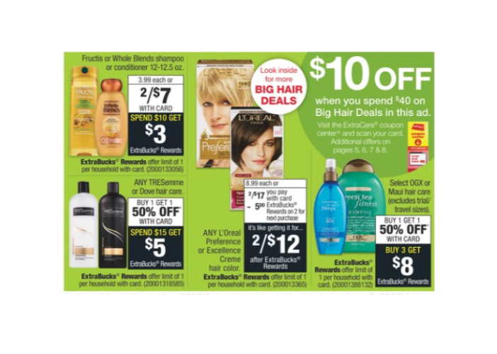 10 Off 40 Instant Cvs Coupon On Select Hair Care Accessories Appliances My Dfw Mommy