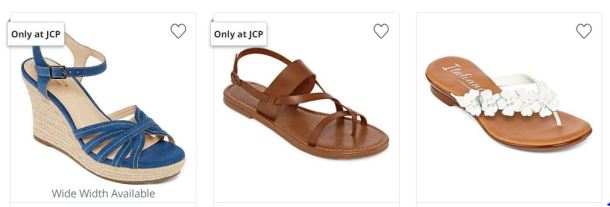 703fe8109f7c Head over to JCPenney where right now Women s Sandals are on sale Buy 1 Get  2 FREE! Prices start at  40 so that s like getting 3 pairs for just  13.33  each!