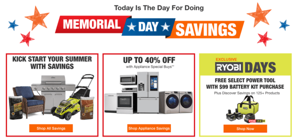 Home Depot Memorial Day Sale This Weekend - My DFW Mommy