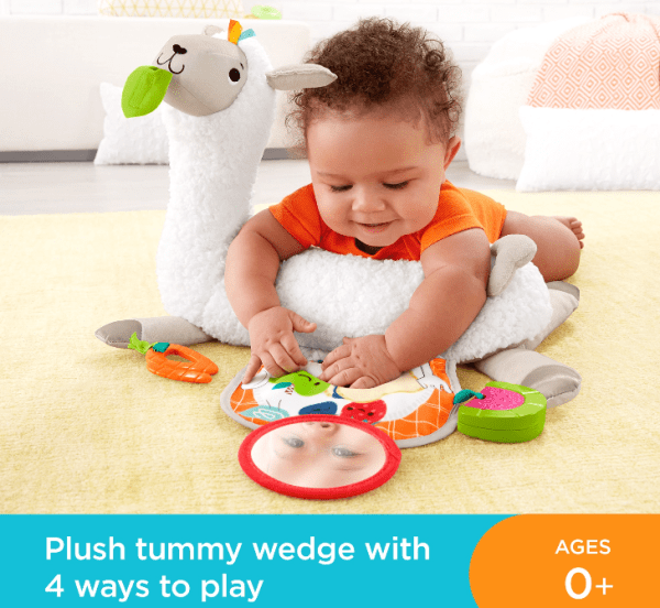 Fisher-Price Grow-with-Me Tummy Time Plush Llama