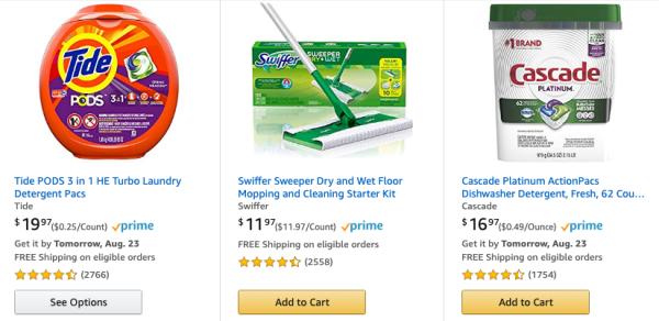 $10 Savings When You Buy 3 Select Amazon Household Supplies