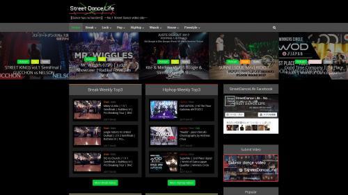 Street Dance Lifeのウェブサイト