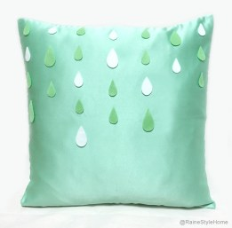 Cool rain droplets cushion (Smiling Cloud, misi.co.uk)
