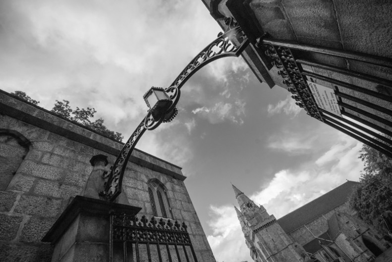 The gate to St Machar Cathedral