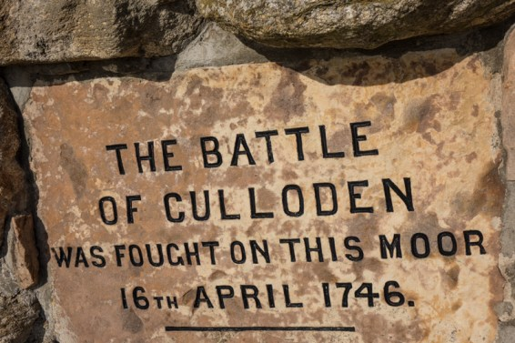 The memorial stone of the Battle of Culloden