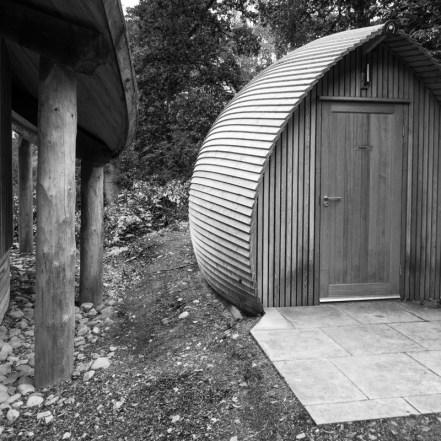 Composting toilet at the Scottish Plant Hunter's Garden