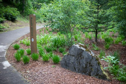 Garden section signpost