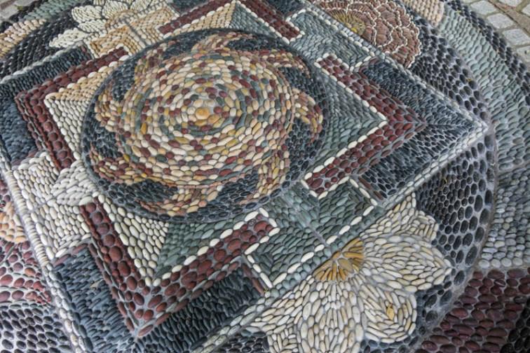 Mosaic at the Scottish Plant Hunters Garden
