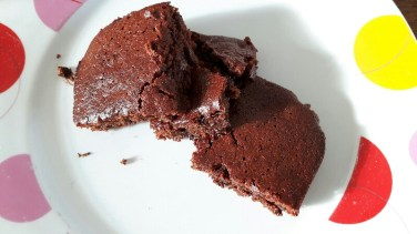 Vegan brownies from the top