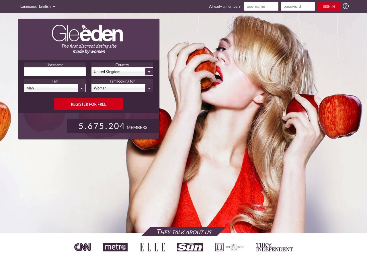 Gleeden. com Dating Site.