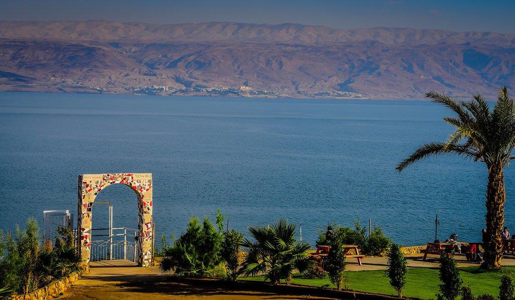 Neve Midbar Beach, Dead Sea, Israel
