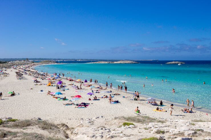 Playa de Llevant, Formentera, Spain