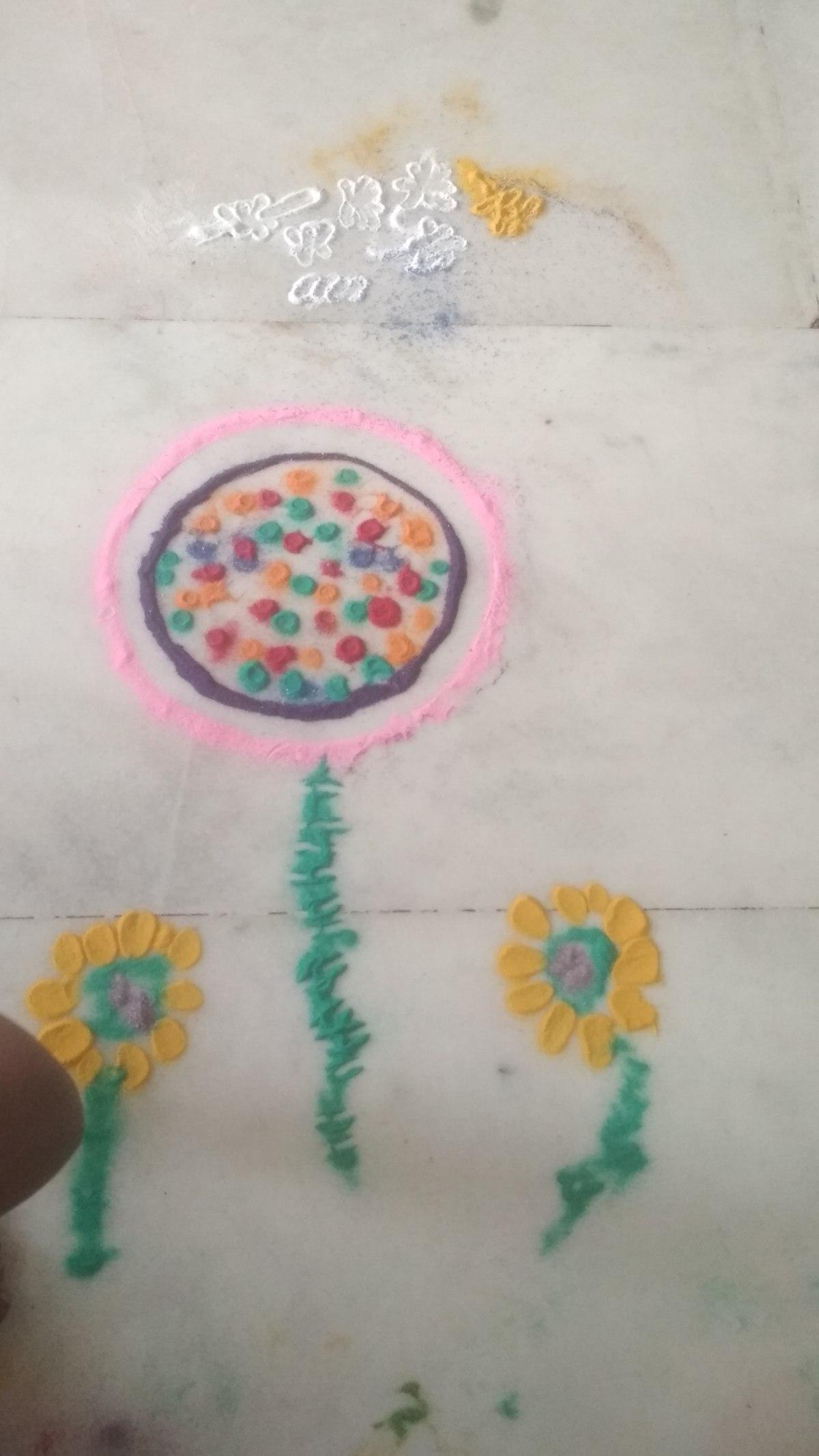 Rangoli Making With Kids: Fun and Learning