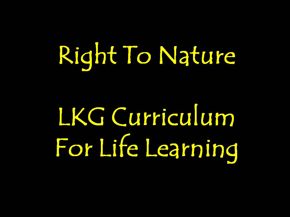 Right To Nature: LKG Curriculum For Life Learning