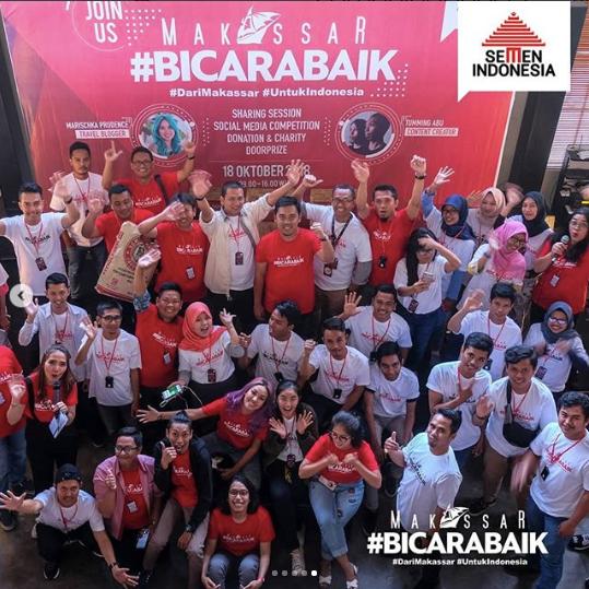 Makassar Bicara Baik Bersama Influencer dan Semen Indonesia