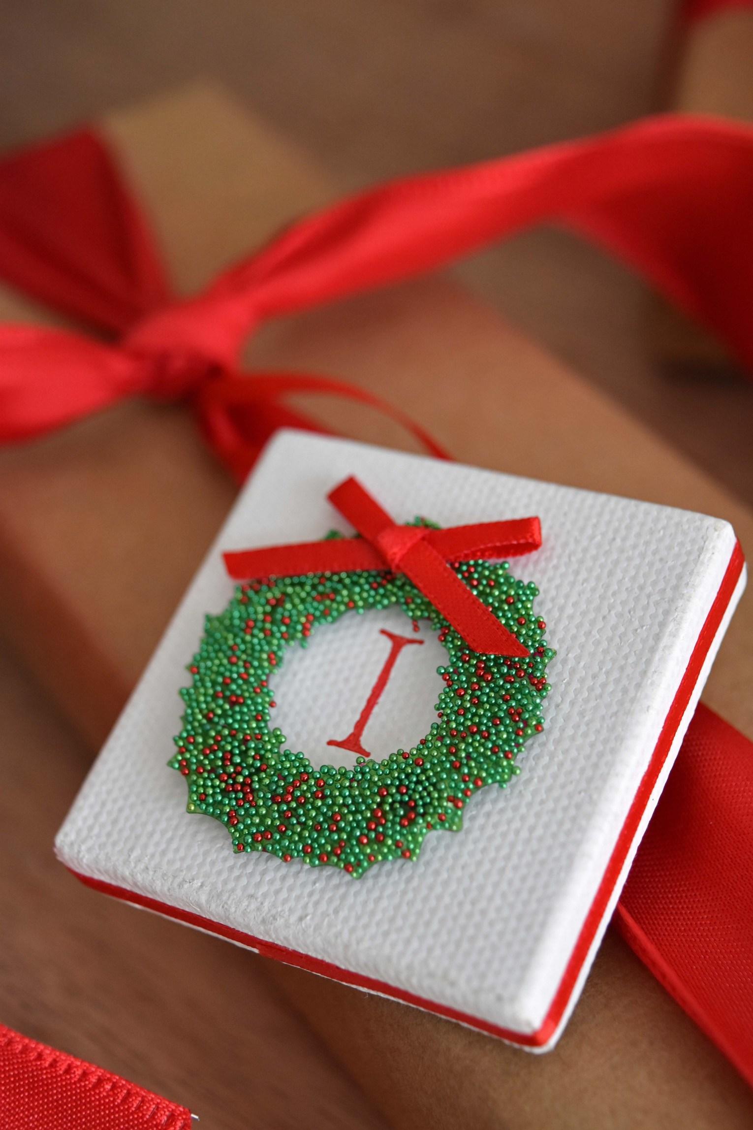 Christmas Gift Tags To Make.Mini Canvas Christmas Gift Tags So Cute Easy To Make