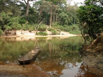 dug out canoe at Iyama river