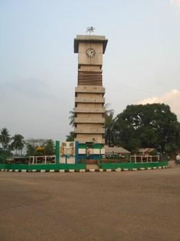 the clock tower in Bo