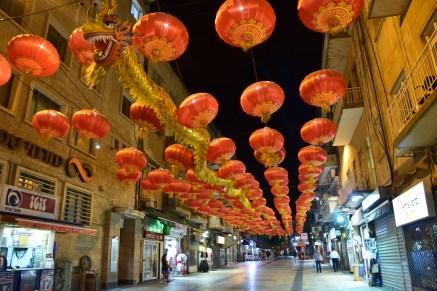 Dragon street along Jaffa road