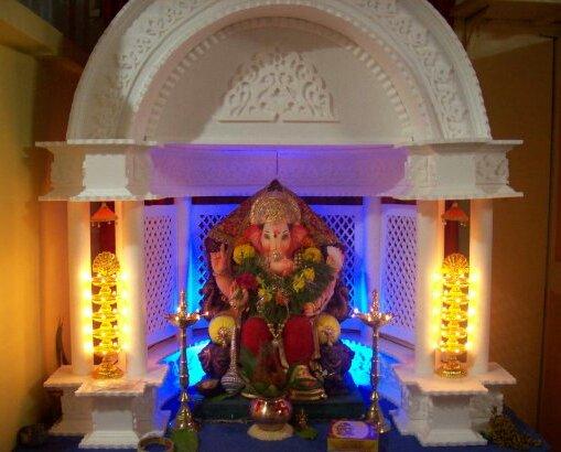 Ganesh Chaturthi Decoration Idea Use Of Thermocol Sheets
