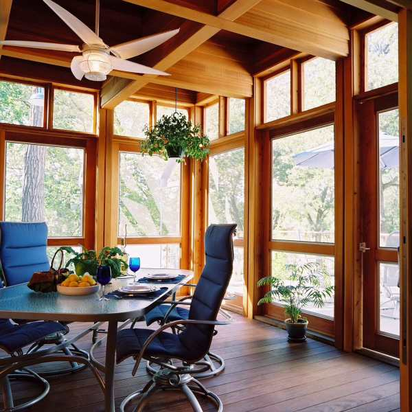 enclosed patios ideas design Creating a Beautifully Transitional Enclosed Porch | My
