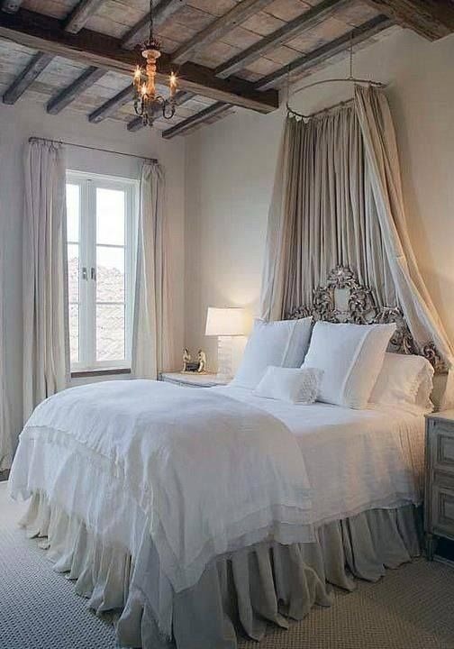 bed with textil