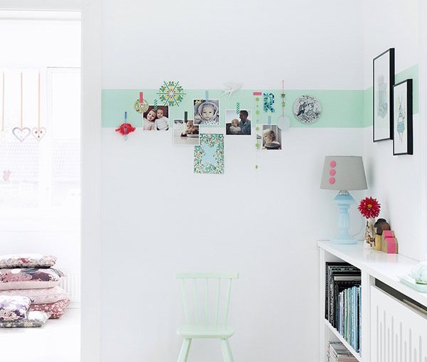 Decorate a wall with color and photos
