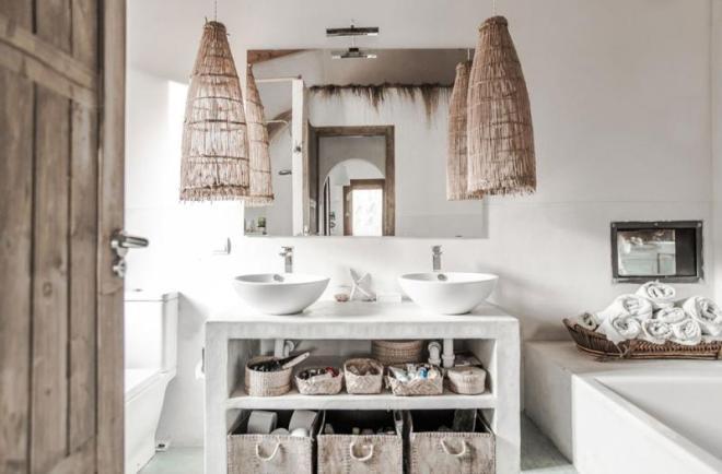 modern and natural bathroom