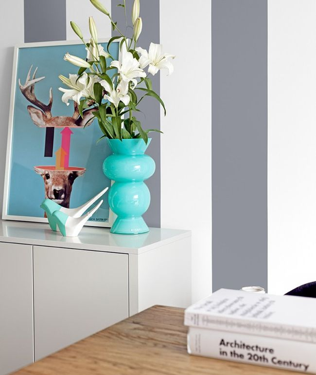 stripes and color for walls