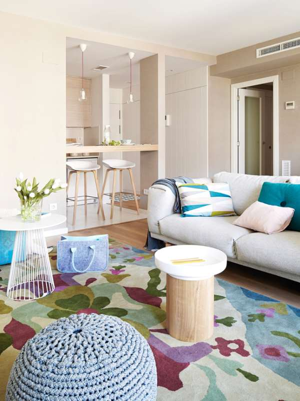 versatile and colorful living room -light